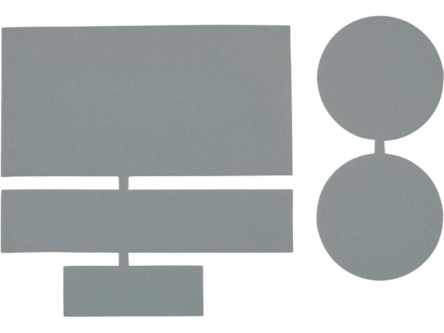 CAMPZ Parches Reparadores Nylon 5 Piezas, gris